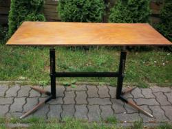 Retro adjustable metal frame table, worth renovating