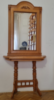 Old German style mirror with small console table