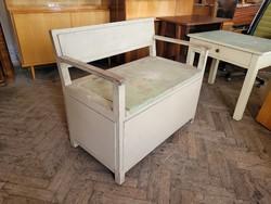 Old arm wooden bench bench vintage storage armrest crate bench bench