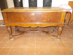 Antique inlaid console table, console table