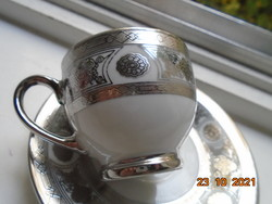 Novel relief with platinum and silver painting, meticulous arabesque and rosette patterns, coffee set