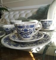 Sold meakin, old English blue - white faience tea set, 4 pcs