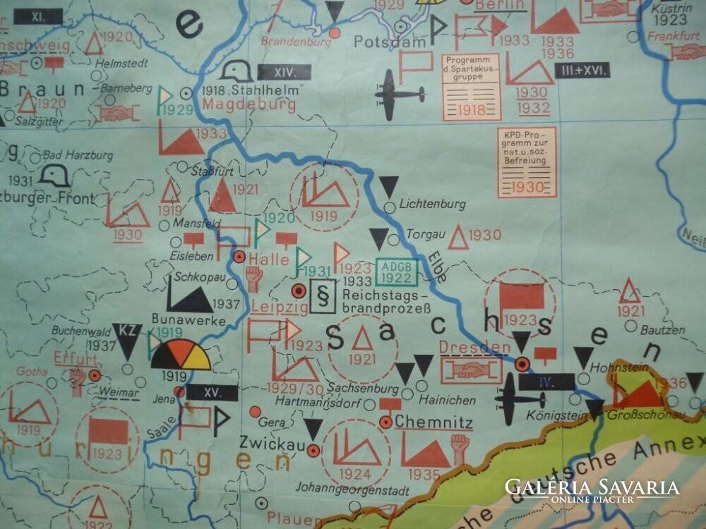 katonai térkép 2518 R1 Antik német katonai térkép 1917 1939   Térkép, atlasz  katonai térkép