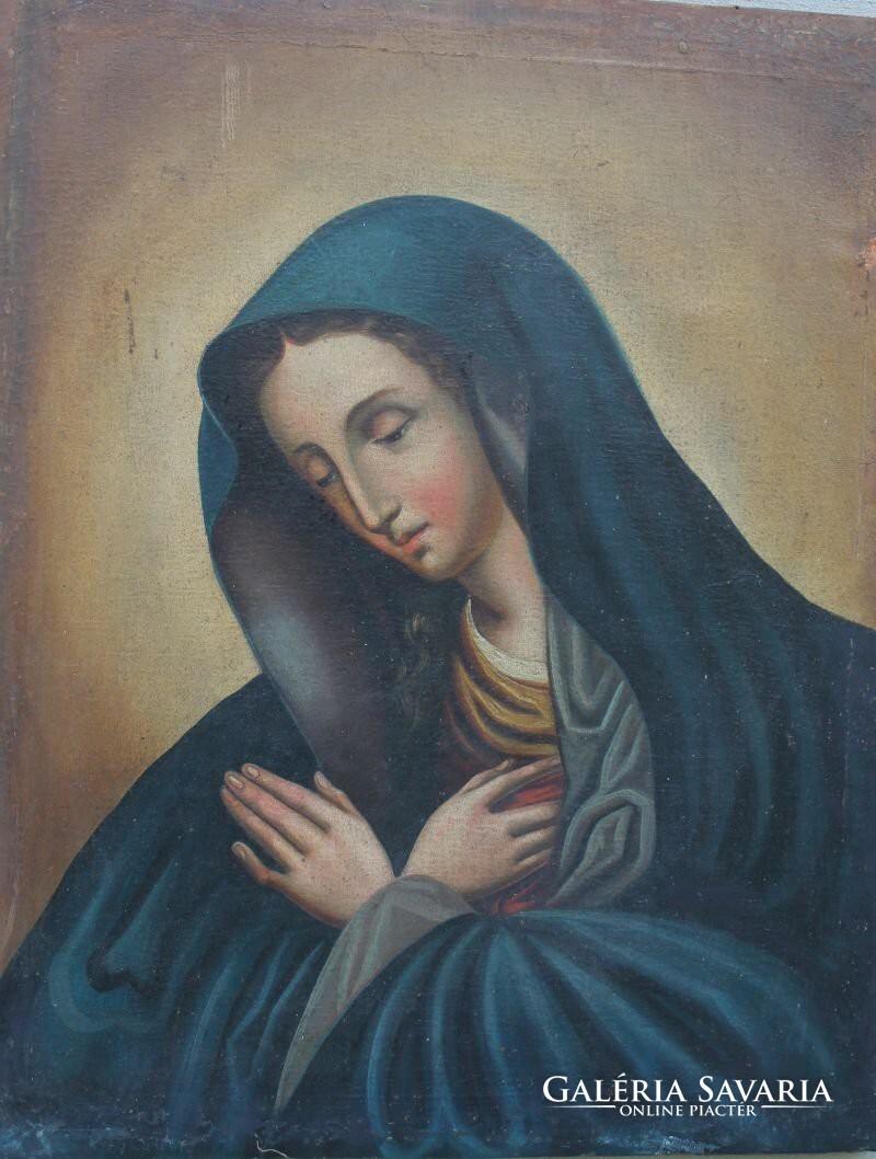 Antik olaj vászon festmény  Mária ábrázolás c95505364f