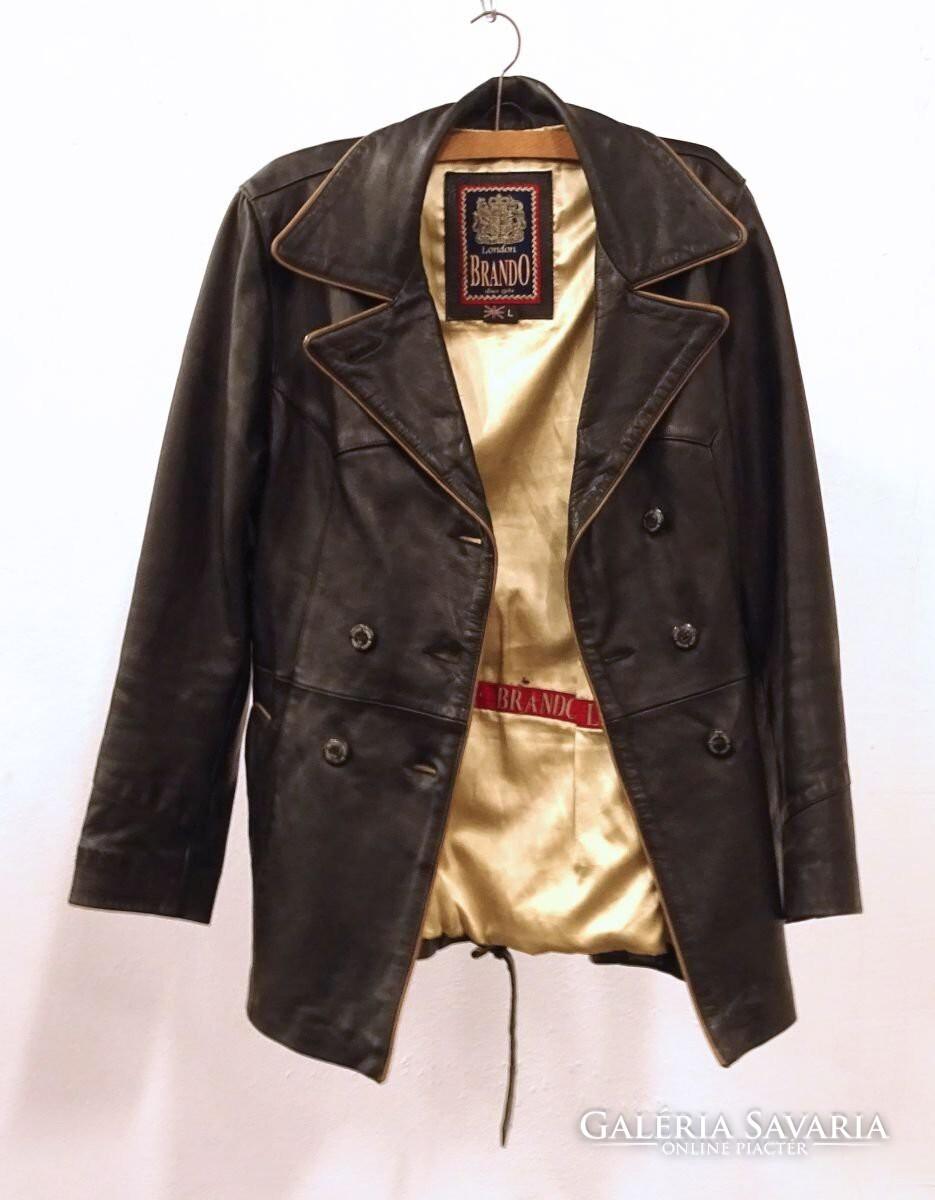 99843a05f2 0U261 Régi Brando fekete női bőrkabát - Gardrób | Galéria Savaria ...