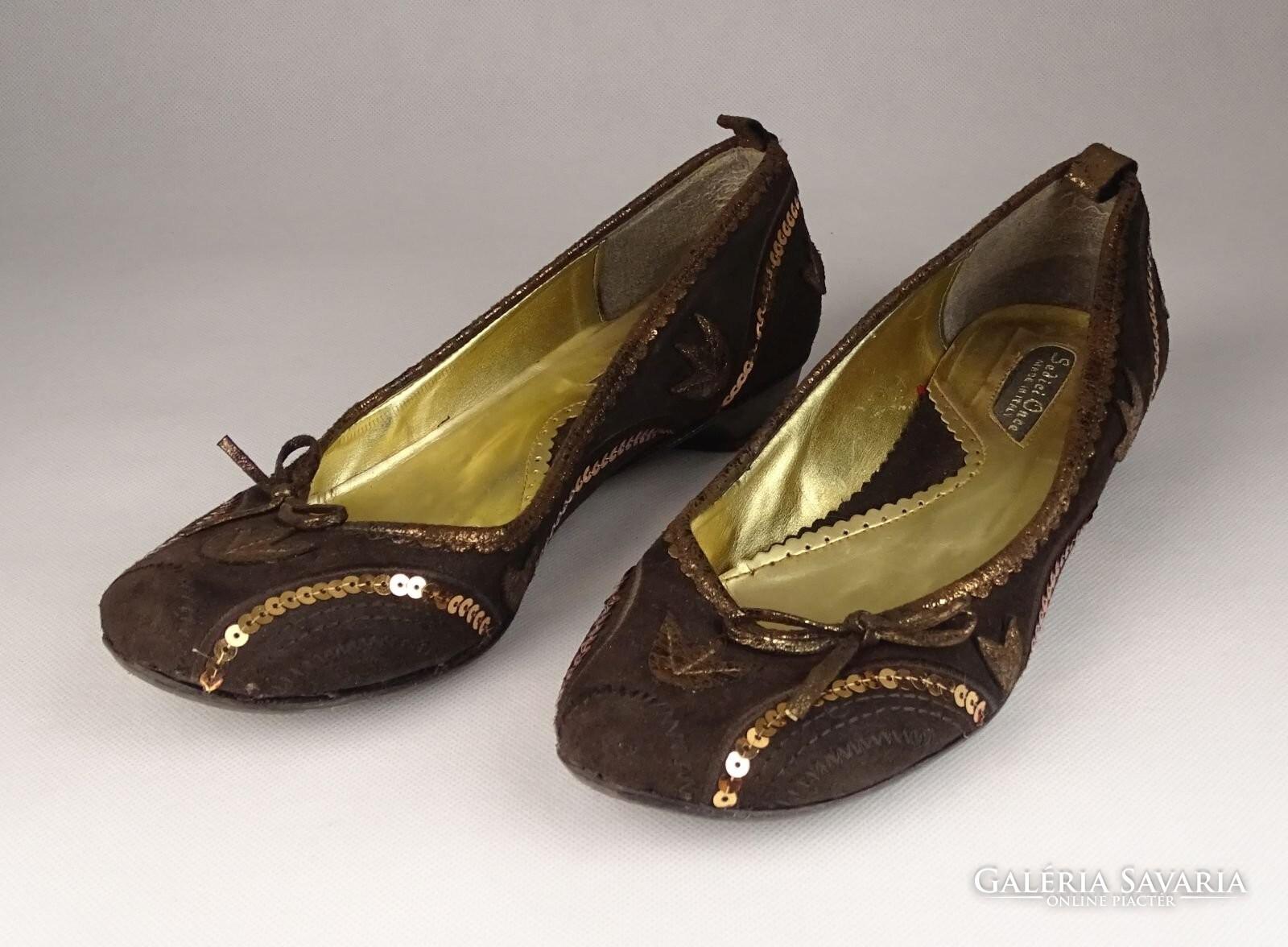 0V558 Barna velúr Sedici Once balerina cipő 38-as - Gardrób ... c1db553ff7