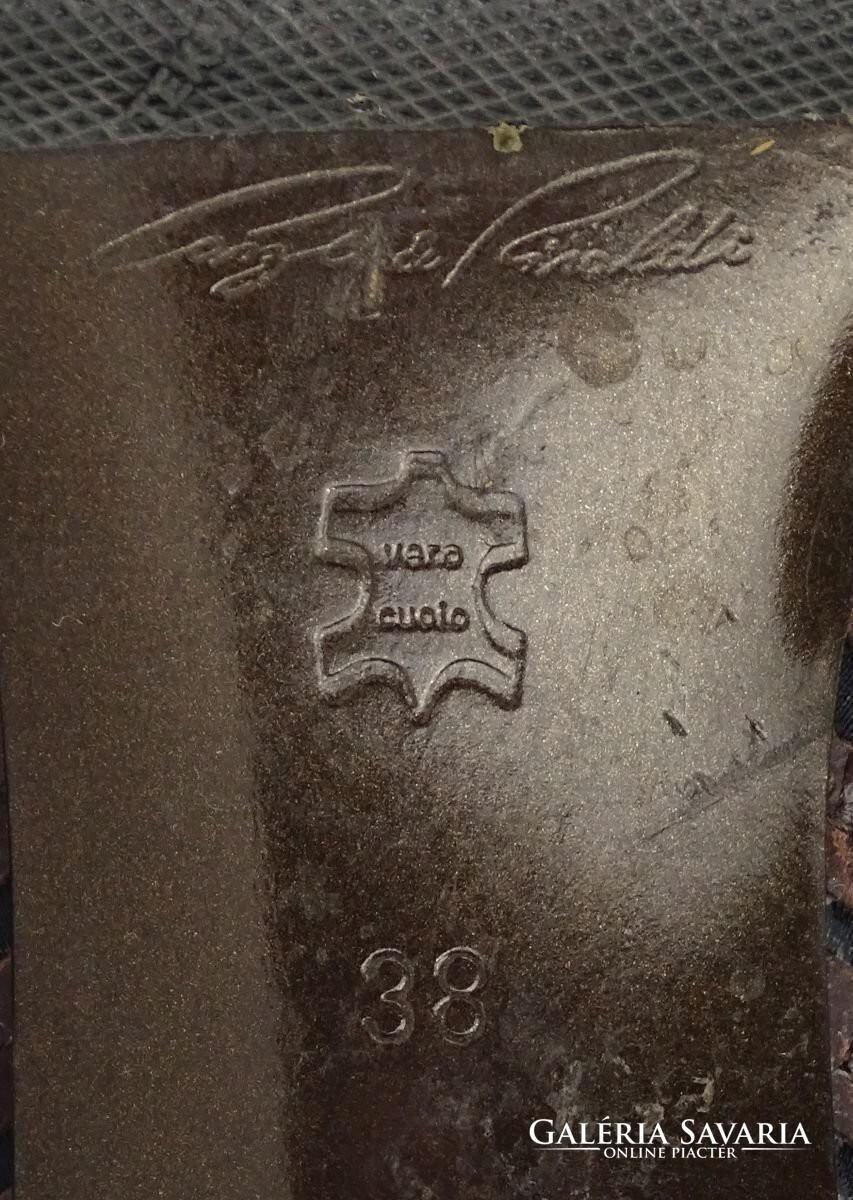0V552 Bőr szalagos Cango Rinaldi női csizma 38 as Wardrobe