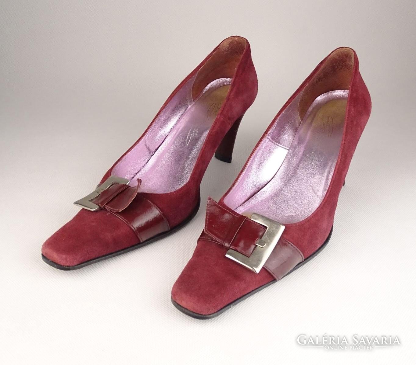 0V819 Bordó Cango Rinaldi női velúr cipő 38-as - Gardrób  9f86b88343