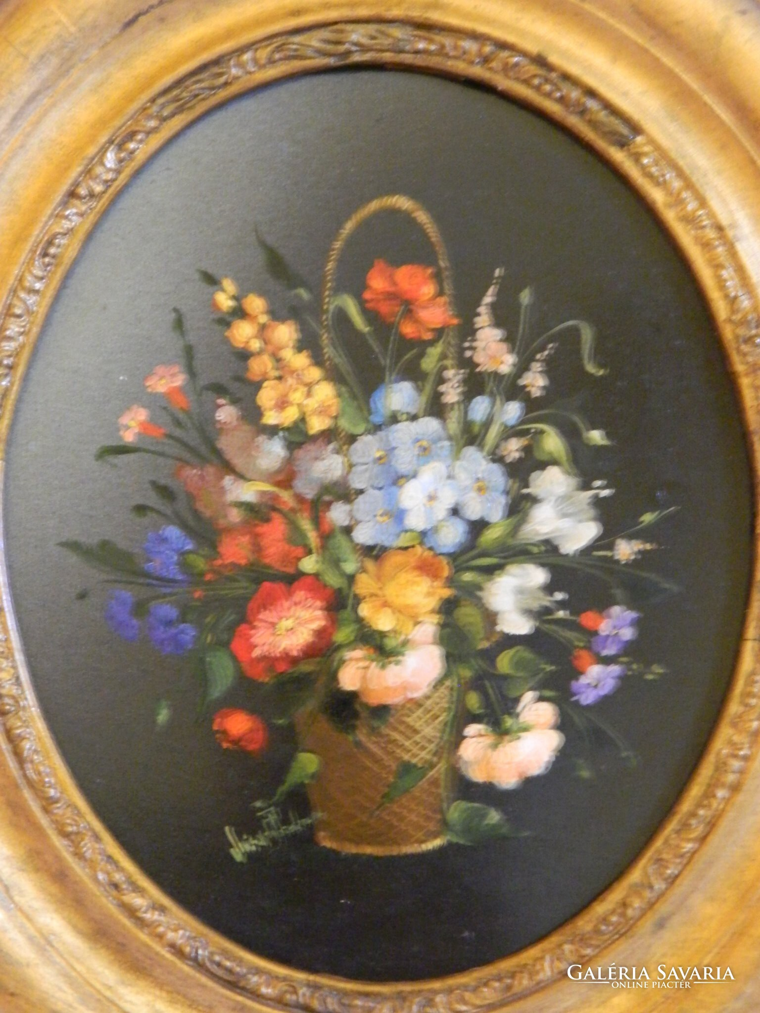 7a795fc8b8 Luisa da Pordenone virág csendélet - Festmény   Galéria Savaria ...