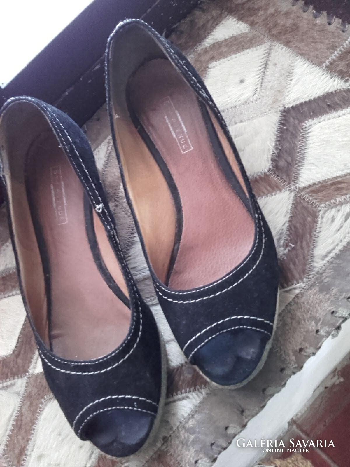 5 th Avenue sötétkék kívül belül bőr cipő szandál 38 as( 5