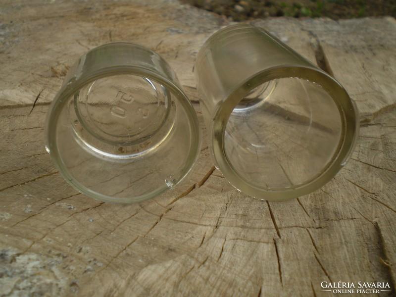 Régi kenőcsös üvegtégely 2 db - Üveg | Galéria Savaria ...